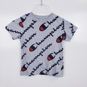 Champion Exploded Script T-Shirt Youth Kids Size 6